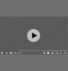 youtube video player vector image