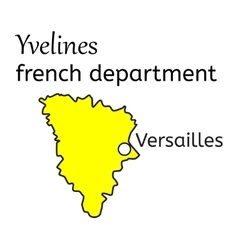 Yvelines french department map vector