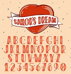 Old School Tattoo style font vector image vector image