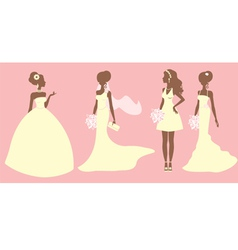 Bridal outfits vector image vector image