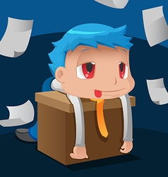 Business Man Hard Worker Tired vector image