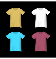 Colorful templates t shirts vector