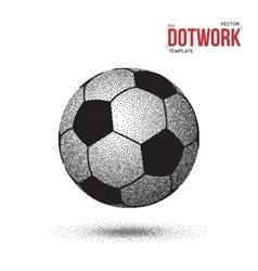 Dotwork Football Soccer Ball Icon made in vector image vector image