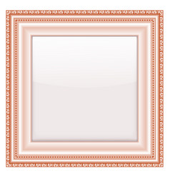 empty vintage frames on white background vector image