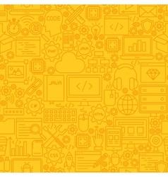 Programming Yellow Line Tile Pattern vector image