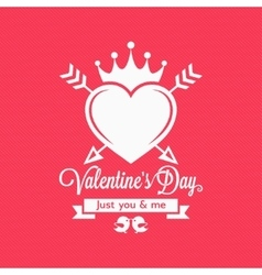 Valentines Day Vintage Concept Background vector image vector image