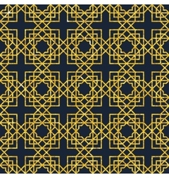 Arabic seamless geometric pattern on gold texture vector image