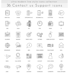 contact us support ultra modern outline vector image vector image