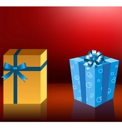 cute holiday gift boxes vector image vector image