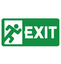 green exit emergency sign vector image vector image