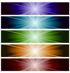 horizontal banner vector image