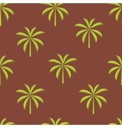 Palm tree seamless pattern vector image