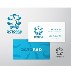 Abstract Logo Business Card Template or vector image vector image