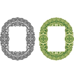 Celtic frame pattern vector image vector image