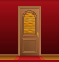 closed entrance door vector image vector image