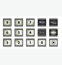 35 mm blank dia old film strip background vector