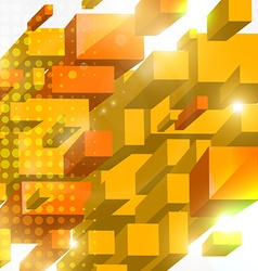 3D Squared Background vector image