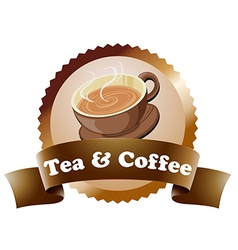 A coffee and tea label vector