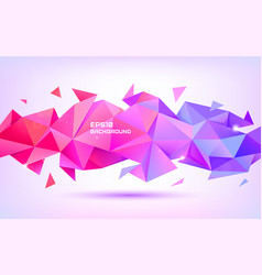 Abstract geometric low poly 3d shape vector