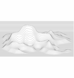 abstract surface landscape made lines vector image
