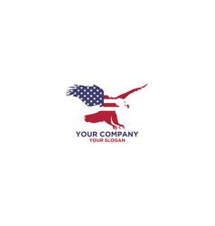 american falcon logo design vector image