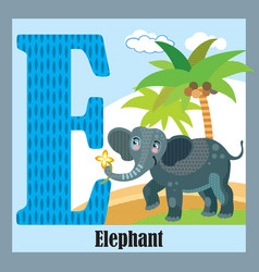 animal alphabet e vector image