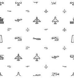 Aviation icons pattern seamless white background vector