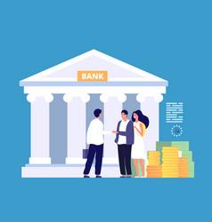 bank loan business trading entrepreneur proposal vector image
