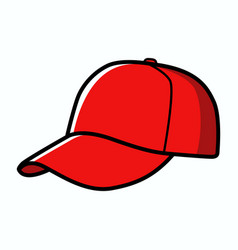 baseball cap isolated on white vector image