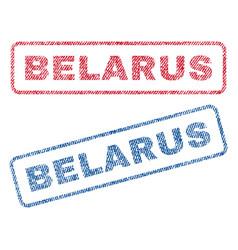 Belarus textile stamps vector