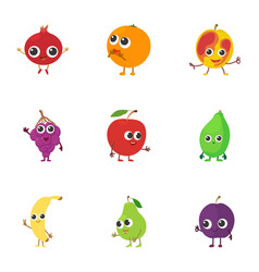 berry area icons set cartoon style vector image