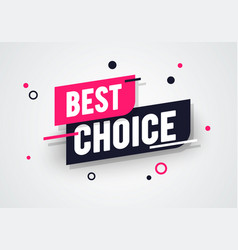 Best choice label modern dynamic sales banner vector