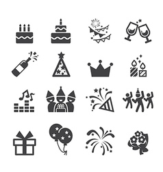 birthday icon vector image