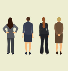 businesswomen shown from back vector image