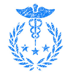 Caduceus logo grunge icon vector