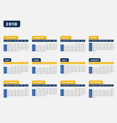 Calendar office design vector