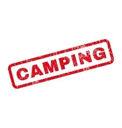 Camping Rubber Stamp vector