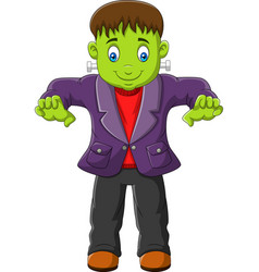 cartoon halloween monster isolated on white backgr vector image