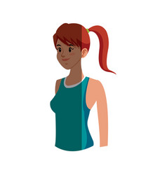 character girl sport fitness clothes vector image