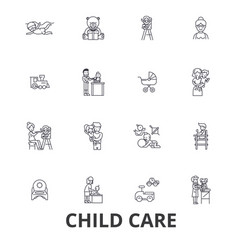child care babysitter preschool nanny nursery vector image