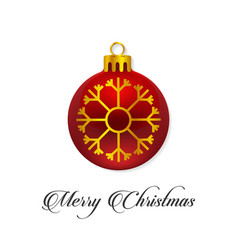 christmas typographic and snow flakes balls vector image
