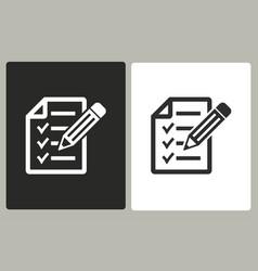 Clipboard - icon vector