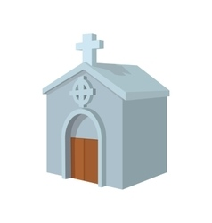 Crypt in cemetery cartoon icon vector image