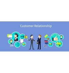 Customer Relationship Concept Design vector