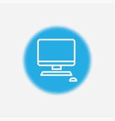 desktop icon sign symbol vector image