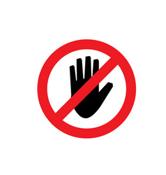 do not touch icon vector image