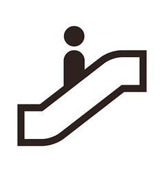 Escalator icon vector