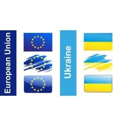Flag Ukraine EU vector