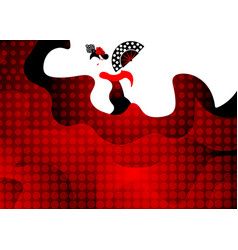flamenco dancer sexy silhouette spanish woman vector image