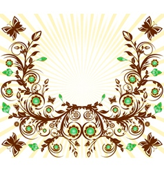 floral ornament background vector image